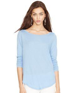 Cotton Jersey Long-Sleeved Tee - Polo Ralph Lauren Long-Sleeve - RalphLauren.com