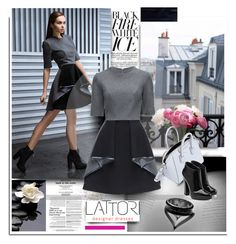"""Black&White with Lattorri.com"" by hamaly ❤ liked on Polyvore featuring Lattori, Givenchy, Giuseppe Zanotti, ootd, dresses, fallstyle and lattori"