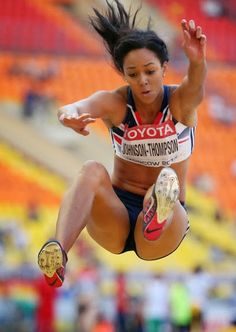 David Oliver Photos Photos: IAAF World Athletics Championships Moscow: Day 4 Olympic Athletes, Olympic Sports, Katarina Johnson Thompson, Heptathlon, World Athletics, Long Jump, Beautiful Athletes, Different Sports, Sports Images