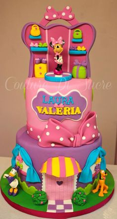 Birthday Cake Pink Mickey Mouse Ideas For 2019 More from my siteMickey Mouse Clubhouse Happy Birthday Banner Mickey And Minnie Cake, Bolo Mickey, Minnie Mouse Birthday Cakes, Custom Birthday Cakes, Pink Minnie, Cool Birthday Cakes, Birthday Cake Girls, Minnie Mouse Party, Birthday Cupcakes