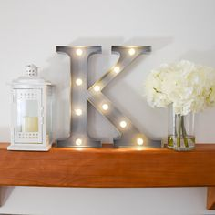 "Kappa (""K"") Letter Marquee Light--LED, battery operated Greek letters available for all sororities! 22mm light up wall decor, great for your sorority house or even recruitment!!"