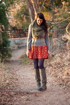 scarf and skirt