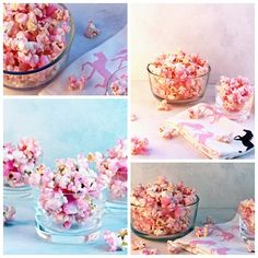 Old Fashioned Pink Popcorn. Absolutely, hands down the perfect snack to serve at a a little girl's birthday party or a baby shower or even a bridal shower. Yummy.