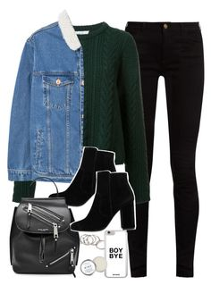 """outfit for college with boots and a sweater"" by ferned on Polyvore featuring Gucci, Ryan Roche, Forever 21, MANGO, Marc Jacobs and Herbivore"