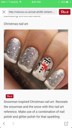 Cute snowmen nails                                                                                                                                                                                 Mehr