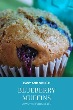 Simple Blueberry Muffins Recipe - Little House Living Clean Breakfast, Make Ahead Breakfast, Perfect Breakfast, Breakfast Dishes, Breakfast Recipes, Easy Blueberry Muffins, Blueberry Cookies, Blue Berry Muffins, Sweets Recipes