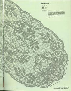 Цветочная поляна салфетка крючком схема 2