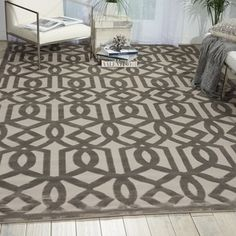 Nourison Ultima Silver Grey Rug (7'6 x 9'6) - 17582097 - Overstock.com Shopping - Great Deals on Nourison 7x9 - 10x14 Rugs