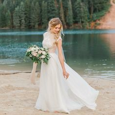 Modest Wedding Dress With Cap Sleeves From Alta Moda Bridal Gown