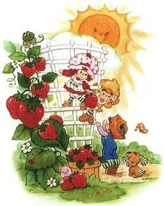 Strawberry Shortcake Vintage ❤ with Lemon Meringue and Huckleberry Pie Strawberry Shortcake Characters, Vintage Strawberry Shortcake, Huckleberry Pie, Vanille Cupcakes, Retro, Owl Clip Art, Rainbow Brite, Holly Hobbie, Cute Pictures