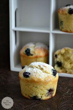 Muffins de queso y arándanos