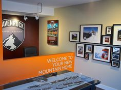 Who said you can't have a nice functional sales centre in a single garage. We did this for Ravenrock in Canmore, AB.