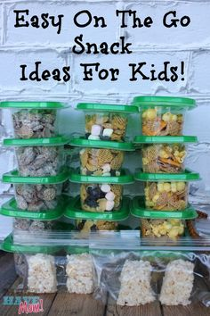 Easy On The Go Snack Ideas For Kids! Stock Your Pantry With Grab and Go Snack Packs! @musthavemom #snackingonthego #beprepared #snackpack