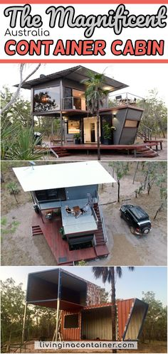 Be immersed in the rugged beauty of our Northern bushland, from the luxury and comfort of this two story (dressed up) shipping container. Building A Container Home, Container Cabin, Container House Plans, Container House Design, Shipping Container Buildings, Shipping Container Home Designs, Shipping Containers, Silo House, Tiny House Cabin