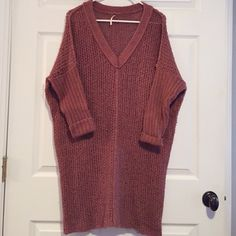 Free People Rust Long Oversized Sweater EUC! Like new Free People Other