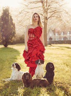 Lily James for the April 2018 issue of Harper's Bazaar UK