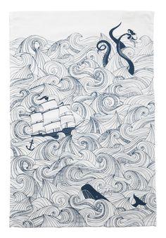 Swell Acquainted Tea Towel Set//