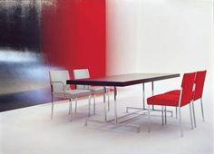 Contemporary table STEEL by Enrico Franzolini MOROSO