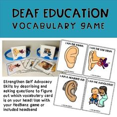 Deaf Education Vocabulary Game by TOD On Wheels Deaf Education Activities, Spelling Activities, Bilingual Education, Therapy Activities, Listening Activities, Vocabulary Strategies, Vocabulary Activities, French Language Learning, Teaching Spanish