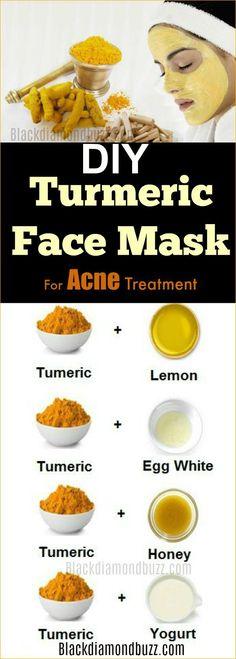 DIY Turmeric Face Mask For Acne Treatment, Dark Spots ,Scars and Wrinkle #acne #diy #darkspotskinproduct