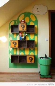 Mario Shelf... So neat!