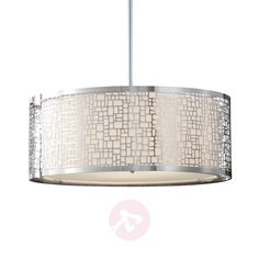 Buy Large pendant lamp Joplin ✓Top-rated service ✓Comfortable & secure payment Years of experience ✓Order now! Large Pendant Lighting, Pendant Lamp, Laser Cut Metal, Contemporary Interior Design, Bedroom Lighting, Drum Shade, Chrome Finish, Designer, Ceiling Lights