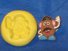 Mr Potato Head Character Silicone Push Mold 466 For Cake Pop Chocolate Fondant  #LobsterTailMolds