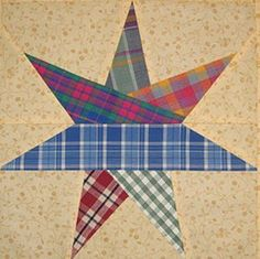 7 Pointed Star Block  (link is to page of free quilt patterns)