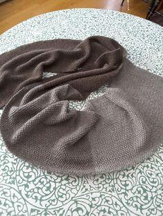 Baa Ram Ewe seed stitch sequence scarf