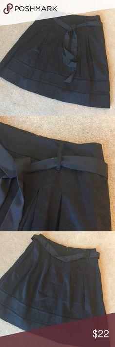 """WHBM Black Skirt Zipper back. Detachable Belt. 21"""" long. Fully lined. 97% cotton 3% spandex White House Black Market Skirts"""