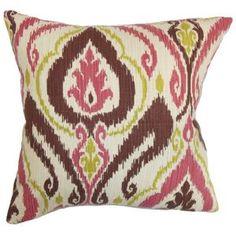 """Obo Ikat Pillow Tamanho: 18 """"x18 $ 51,99 por Wayfair"""