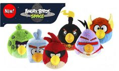 angry birds space plush toys