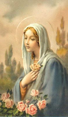 Beautiful picture of our Blessed Mother Divine Mother, Blessed Mother Mary, Blessed Virgin Mary, Catholic Art, Religious Art, Roman Catholic, Mother Mary Tattoos, Rosary Mysteries, Verge