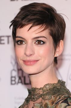 Short, Sleek Hairstyle Ideas: Anne Hathaway Cuts Her Hair off & It's All Drama