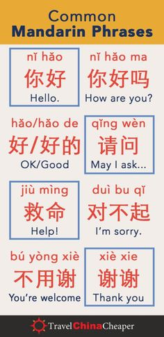Learn to read and speak Chinese. Learning common Mandarin phrases are useful when traveling th. Basic Chinese, How To Speak Chinese, Learn Chinese Characters, Mandarin Lessons, China Language, Language Study, Dual Language, Spanish Language, Chinese Phrases