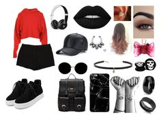 """Black Set"" by ranimes on Polyvore featuring moda, TIBI, WithChic, L'Agence, Sole Society, Beats by Dr. Dre, Miu Miu, Carbon & Hyde, Kobelli e West Coast Jewelry"