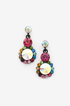 Crystal Makenna Earrings in Madori on Emma Stine Limited  -  bring on the bling bling