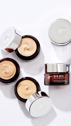 "Say ""bye bye"" to redness and hello to your most flawless complexion in just one step! Developed with plastic surgeons, Bye Bye Redness™ is your color-infused skincare that starts its life as a hydrating, skin-calming cream and cancels redness from view—all while delivering long-wearing, color-correcting full coverage."