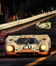 Le Mans Legend 917 and the BP 908 in the background