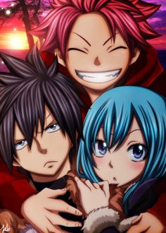 This is one of my favorite pictures! I think even Natsu ships Gruvia. :3 lol
