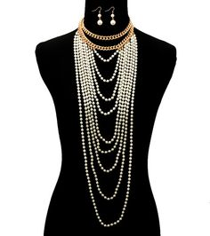 Necklace Sets Color:Cream Size18 inches