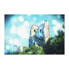 60% OFF Calendars & Wrapped Canvas! #zazzle #coupon Sparkling Blue Fairytale Castle Ruin Gallery Wrapped Canvas