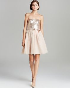 AQUA Dress - Beaded Strapless   Bloomingdale's   £121