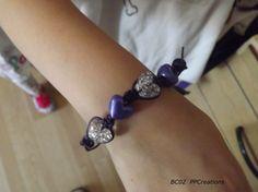Childs heart bracelet £1.50 from Purple Pumpkin Creations #Craftfest