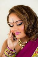 Soft Glam on this gorgeous model. Hair & Makeup: @nickihalamua Indian Outfit: Ohm by Neena and Astha www.halabeauty.com
