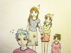 Teddy Lupin, Victoire, Dominique and Louis Weasley by AleMosk on DeviantArt James Sirius Potter, Albus Severus Potter, Harry Potter Books, Harry Potter Fan Art, Victorie Weasley, Louis Weasley, Dominique Weasley, Roxanne Weasley, Teddy Lupin