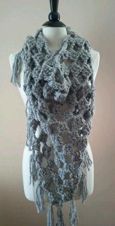 the winter shawl // navy by OwlsNestCrochet on Etsy, $65.00
