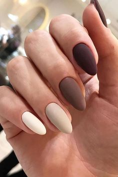 Decorated Nails: This is the manicure you do in this he .- Decorated Nails: This Is The Manicure You Will Wear This Fall Fashion - Stylish Nails, Trendy Nails, Cute Nails, Uñas Color Cafe, Almond Nail Art, Almond Nails, November Nails, 14 November, Nagellack Trends