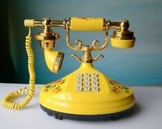 Old yellow phone