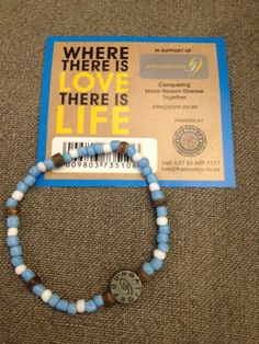 The Bead Co S Pale Blue Mnd Bracelet For Joost Vd Westhusizen J9 Foundation We Donate 20 Of Gross Profits To Support Cause